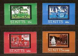 Saint-Christophe St-Kitts 1985 Yvertn°  584-87 *** MNH Cote 5,50 Euro - St.Kitts-et-Nevis ( 1983-...)