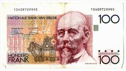 Billet Belgique 100 Francs Belge  Hendrik BEYAERT Nationale Bank VAN BELGIE - 100 Francs