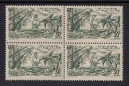 St Pierre Et Miquelon MNH Scott #166 Block Of 4 30c Paris International Exposition - St.Pierre Et Miquelon
