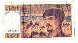 Billet France 20 Francs  Debussy 1997  A.61 - 1962-1997 ''Francs''