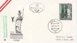 AUSTRIA 1964 EUROPA SYMPATHY ISSUE  FDC - European Ideas