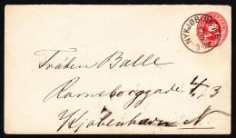 Denmark - 1891 Nykjobing Cover - 1864-04 (Christian IX)