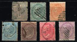 Italia REGNO - 1863 Sass. 14,16-21 - USATI - 1861-78 Vittorio Emanuele II
