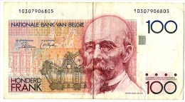 Billet Belgique 100 Francs Belge  Hendrik BEYAERT Nationale Bank VAN BELGIE - [ 2] 1831-... : Royaume De Belgique