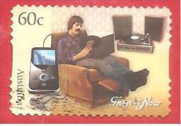 AUSTRALIA USATO - 2012 - Tecnologia Then & Now - Music - 60 C - Michel AU 3692 - AUTOADESIVO - Usati