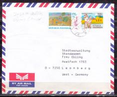 Luftpost, MiF Reisanbau U.a., Salatiga Nach Leonberg 1986 (51455) - Indonesia