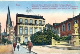 CPA BONN - DENKMAL KAISER WILHELM I MIT BLICK AUF DAS MUNSTER - Bonn