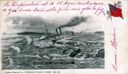 CORSICAN IN LACHINE RAPIDS, Orig.Schiffskarte Aus Canada Gelaufen 1902 Von Montreal Nach Paris, Verlag Arthur Strauss - Montreal