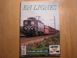 EN LIGNES Revue Ferroviaire N° 56 Livrée Verte 1970 Fin Des Trains Postaux SNCB NMBS Chemins Fer Train Autorail Rail - Railway & Tramway