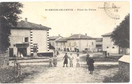 71 - Saône-et-Loire - SAINT AMOUR BELLEVUE Place Du Plâtre Lemonon Ducoté édit, ANIMEE - Autres Communes