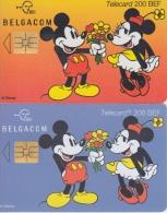 Disney   2 Telefoonkaarten Mickey En Minnie Mouse - Disney
