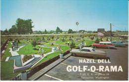 Vancouver Washington, Hazel Dell Golf-o-rama, Miniature Golf Course, Autos, C1960s Vintage Postcard - Vancouver