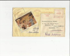 Enveloppe Timbrée Illustrée E M A  Par Avion (de A J BROOMYCIA.SA A  Valparaiso  Chile En 1965) Fiesta En Tierra Chilena - Chile