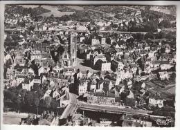 CLAMECY 58 - Vue Aérienne Sur Le Centre Ville Et Quartier Du Beuvron - CPSM Dentelée - Nièvre - Clamecy