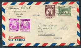 1946 Peru Lima Airmail Cover - Brno Czechoslovakia Washington Miami USA Praha - Peru