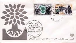 MAROC 1960 - 2 Sondermarken Auf Brief, Sonderstempel - Marokko (1956-...)