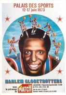 """Basket-ball- Luigi CASTIGLIONI """" Affiche HARLEM GLOBETROTTERS (1) Palais Des Sports PARIS 1973 *PRIX FIXE - Pallacanestro"""