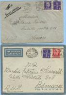 1938-39 AEREA 2 BUSTE NELLE DUE DIVERSE TARIFFE A.O.I. LETTERA 1° (L. 1,50 E 1,75) – INTERESSANTI (A271) - Africa Orientale