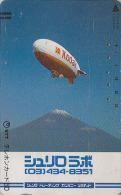 Télécarte Ancienne Japon - PHOTO KODAK - ZEPPELIN & MONT FUJI -  Japan Phonecard - FOTO Telefonkarte - 146 - Avions