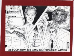 ILLUSTRATEUR F MOREAU 10ÈME  RENCONTRE DES CARTOPHILES VAROIS À  SAINTE MAXIME CARICATURE DE BERNARDI R - Bourses & Salons De Collections