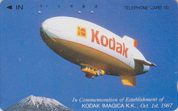 Télécarte Japon / 110-34551 - PHOTO KODAK - ZEPPELIN & MONT FUJI -  Japan Phonecard - FOTO Telefonkarte - 147 - Flugzeuge
