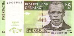MALAWI   5 Kwacha   Daté Du 01-12-2005   Pick 36 C             ***** BILLET  NEUF ***** - Malawi