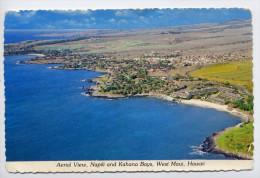 USA--HAWAII---WEST MAUI--Vue Aérienne --Napili And Kahana Bays ,cpsm 10 X 15  éd Hawaian Postcard - Maui