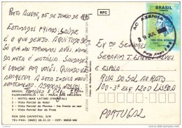 Florianopolis SC - Praia Dos Ingleses - Circulated With Stamp - BRASIL (2 Scans) - Florianópolis