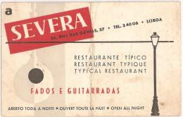 """Lisboa - Restaurante """"A Severa"""" - Marcha De """"A Severa"""" - Publicidade. Fado. Música. Artista Publici. - Lisboa"""