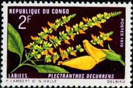 FB0093 Congo 1970 Flowers 1v MNH - Kongo - Brazzaville