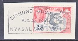 NYASSALAND  71  (o)  ON  PIECE - Nyasaland (1907-1953)