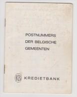 LD Postnummers Der Belgische Gemeenten - Post Codes Of Belgian Communities - Oud
