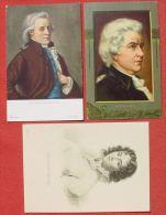 (1046463) Wolfgang Amadeus Mozart U. Constanze Mozart, 3 Postkarten, Siehe Bitte Bilder - Beroemde Personen