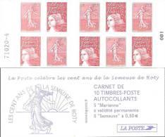"""CARNET 1511 Mixte """"Les Cent Ans De La Semeuse De Roty"""" Nappe 4. TRES Bas Prix, à Saisir. - Carnets"""