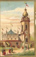 CHROMO DOS BLANC BORDS DORES EXPOSITION UNIVERSELLE 1889  VENEZUELA - Chromos