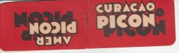 Petit CARNET Publicitaire CURACAO PICON - Avec à L'intérieur Des Feuillets Pour Les Additions - Publicités