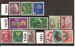 Faire De La Place/  SUISSE / Lot De 13  Timbres Oblitérés Différents (1948-1951 ) Bon .etat - Ohne Zuordnung