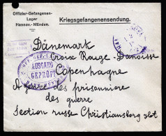 A2647) POW DR Kriegsgefangenenbrief Von Lager Hann.-Münden 1.2.1918 Nach Kopenhagen - Deutschland
