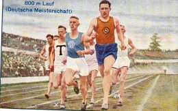 GREILING  -  LEICHTATHLETIK  BILD 17  SERIE 1    DM 1927  800m LAUF - Cigarette Cards