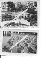 Grèce Salonique Cérémonie Cimetière Allemand Luftwaffe 2 Photos 1939-1945 39-45 Ww2 WwII Wk - War, Military