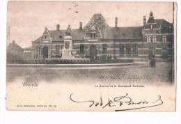 19413 ( 2 Scans ) Vilvoorde - Vilvorde La Station Et Le Monument Portaels 1908 - Vilvoorde