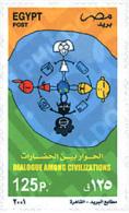 Ref. 91548 * MNH * - EGYPT. 2001. YEAR OF DIALOGUE AMONG CIVILIZATIONS . A?O INTERNACIONAL DEL DIALOGO ENTRE CIVILIZACIO - Ungebraucht