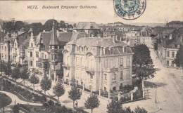 Thematiques 57 Moselle Metz Boulevard Empereur Guillaume Ecrite Timbrée 1917 - Metz