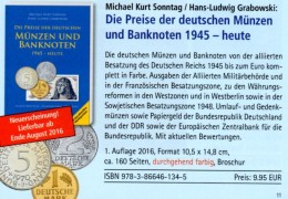 Ab 1945 Deutschland 2016 Neu 10€ Noten Münzen D AM- BI- Franz.-Zone SBZ DDR Berlin BUND EURO Coins Catalogue BRD Germany - Passatempi Creativi