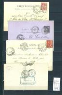Lettre Cachet Convoyeur Audun Le Roman à Charleville Et Retour -4 Piéces Dont Une En Bleu - Postmark Collection (Covers)