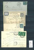 Lettre Cachet Convoyeur Audun Le Roman à Charleville - à Longuyon  Et Retour - 4 Piéces - Postmark Collection (Covers)