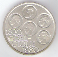 BELGIO 500 FRANCS 1980 AG SILVER - 1951-1993: Baldovino I