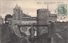 Thematiques 57 Moselle Metz Porte Des Allemands Deutsches Torr Ecrite Timbrée 04 06 1914 Timbre Taxe - Metz