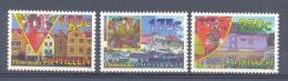 Mrh1080 CARNAVAL HANDELSKADE WILLEMSTAD DRIJVENDE MARKT TOERISME TOURISM MARKET HOUSES NEDERLANDSE ANTILLEN 1995 PF/MNH - Carnaval