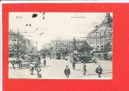 BERLIN Cpa Animée Alexander Platz - Sonstige